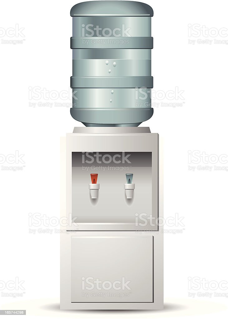 Isolated water cooler on white background vector art illustration