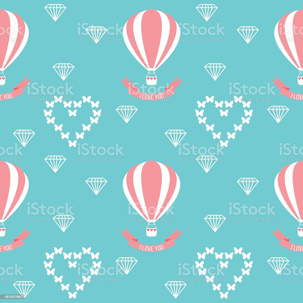 isolated  wedding seamless romantic decorative pattern with cartoon elements vector art illustration