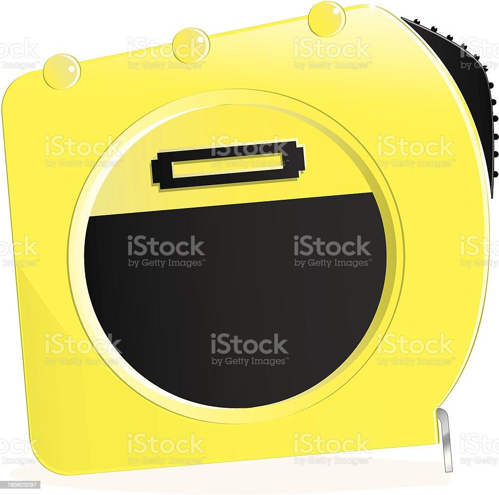 Isolierte gelbe Maßband Lizenzfreies vektor illustration