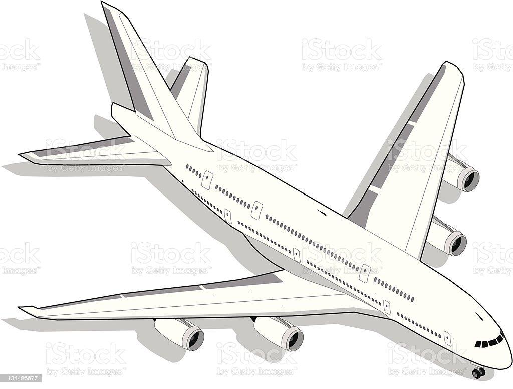 Isometric Airplane royalty-free stock vector art