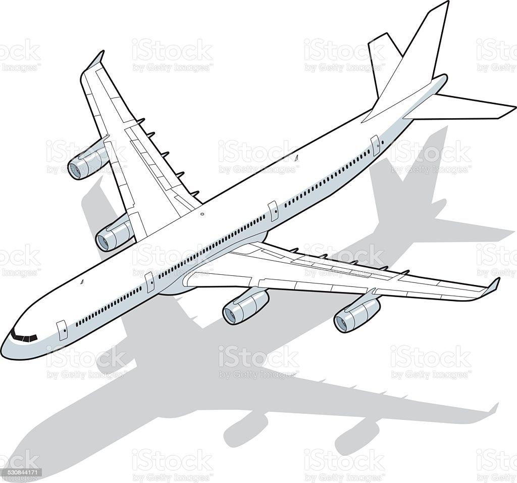 isometric airplane vector art illustration