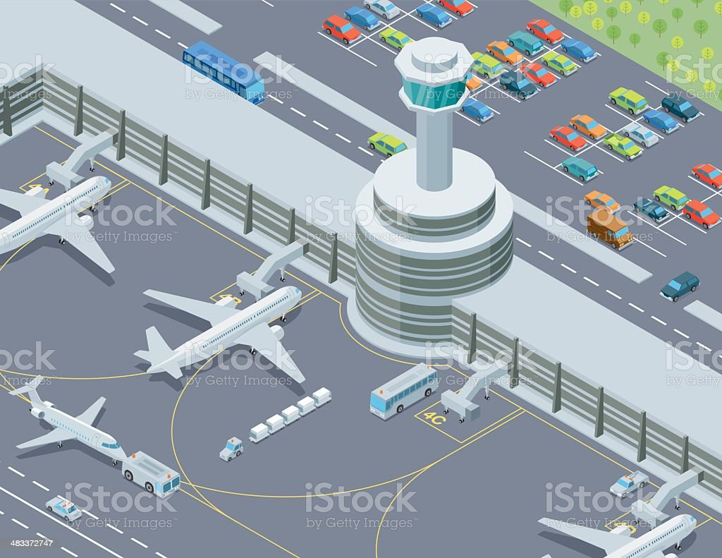 Isometric, Airport Transport royalty-free stock vector art