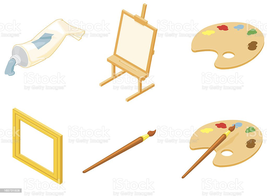 Isometric Arts and Crafts royalty-free stock vector art