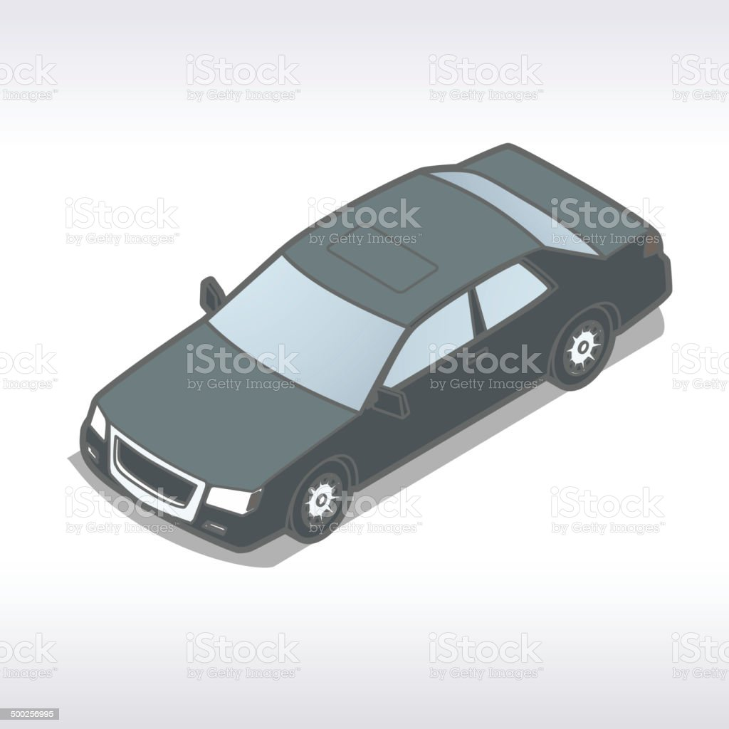Isometric Auto Illustration royalty-free stock vector art