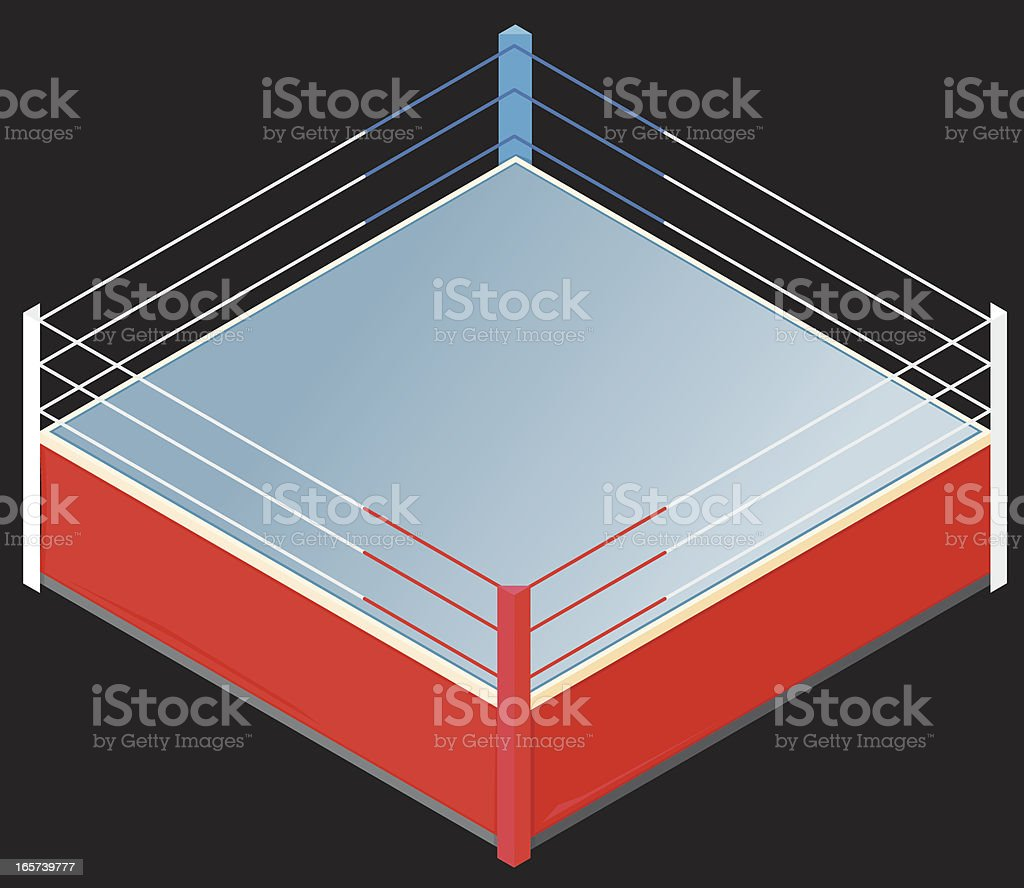 Isometric Boxing Ring vector art illustration