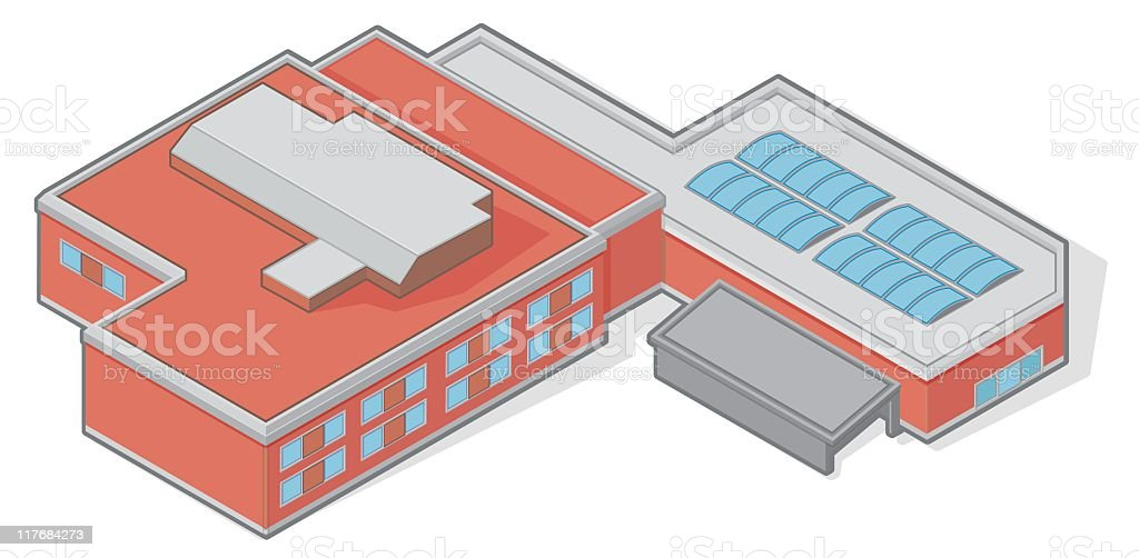 Isometric Building royalty-free stock vector art