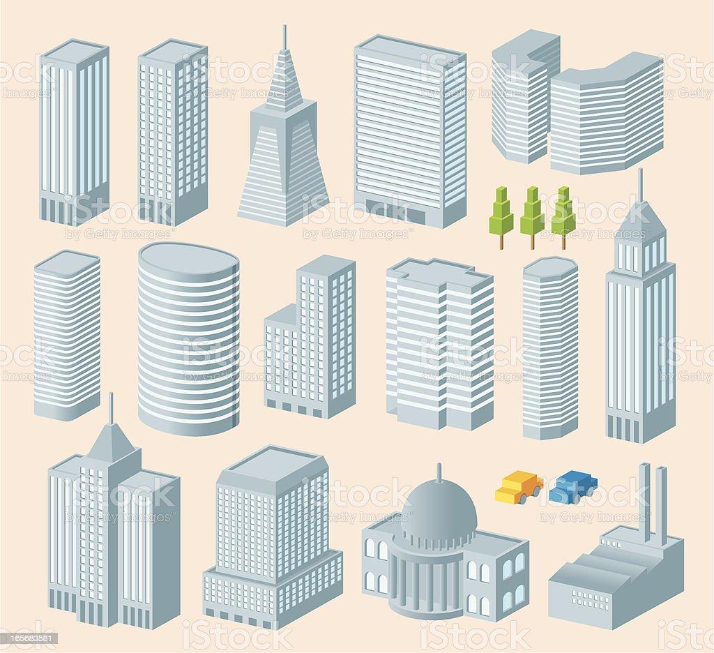 Isometric Building vector art illustration