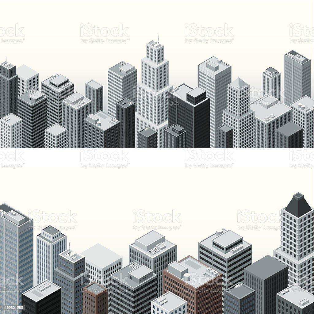 Isometric buildings royalty-free stock vector art