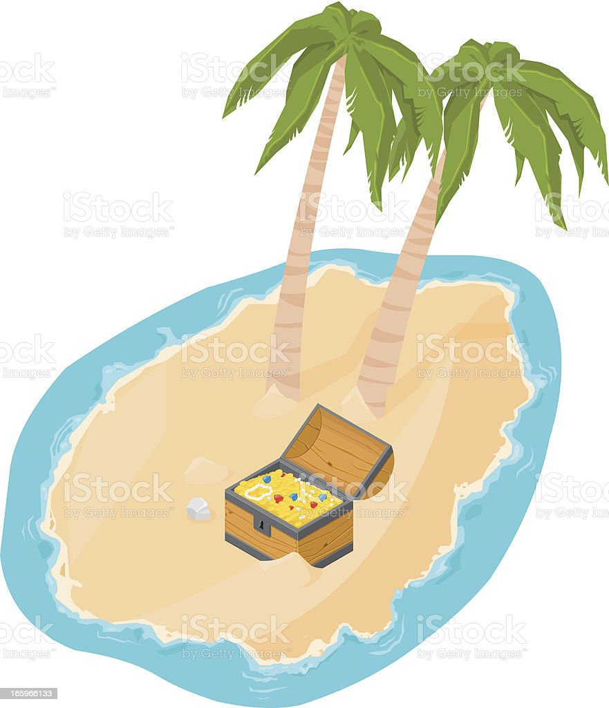 Isometric Buried Island royalty-free stock vector art