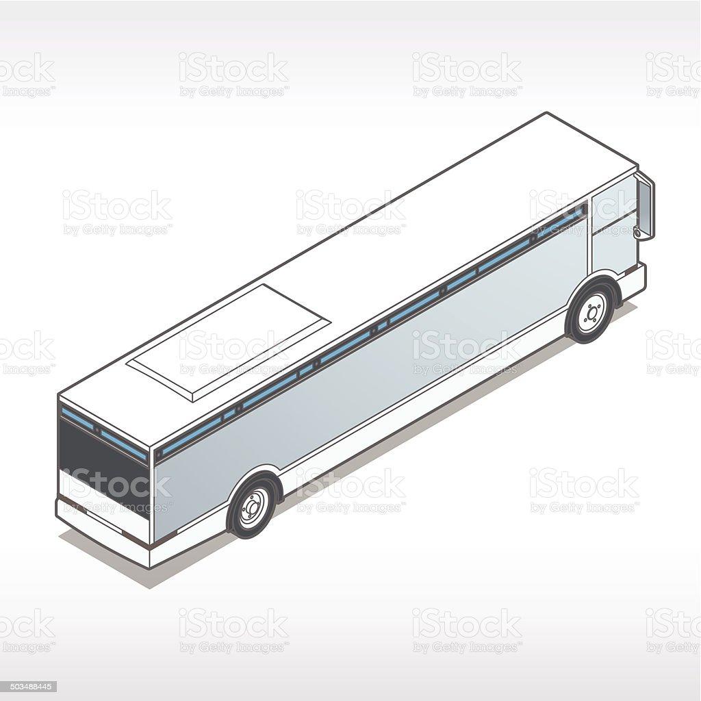 Isometric Bus Illustration royalty-free stock vector art
