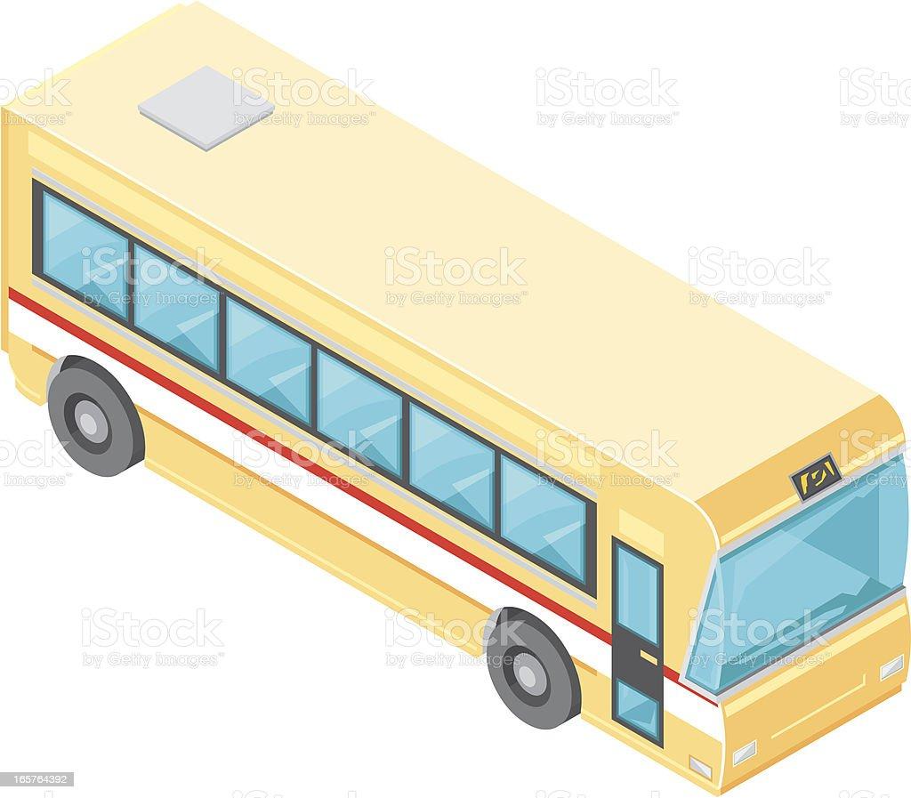 Isometric Bus royalty-free stock vector art