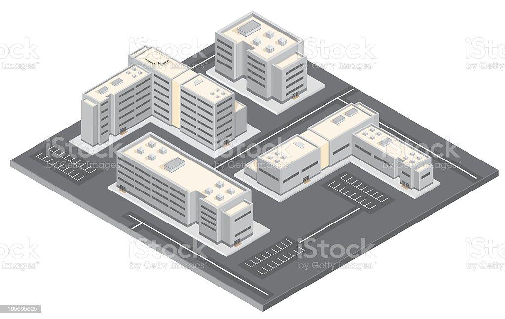 Isometric Business Park vector art illustration