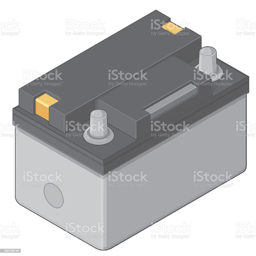 Isometric Car or Vehicle Battery royalty-free stock vector art