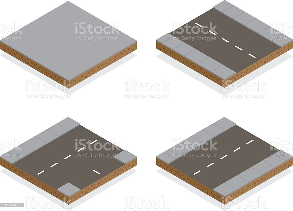 Isometric City Roads royalty-free stock vector art