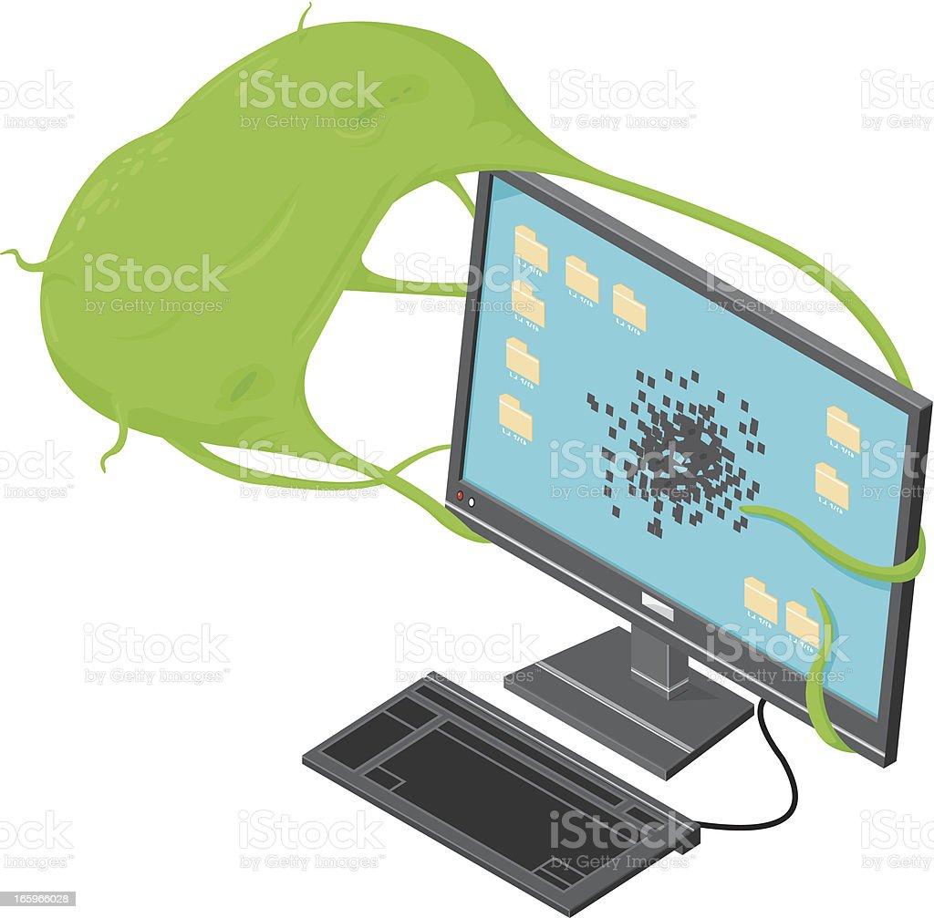 Isometric Computer Virus royalty-free stock vector art