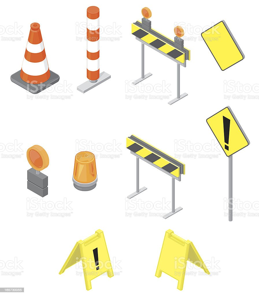 Isometric Construction Icon Set vector art illustration