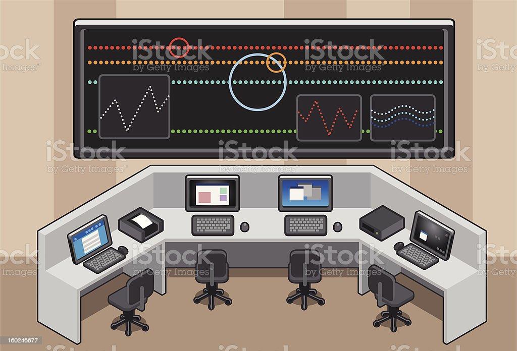 isometric Control center stock photo