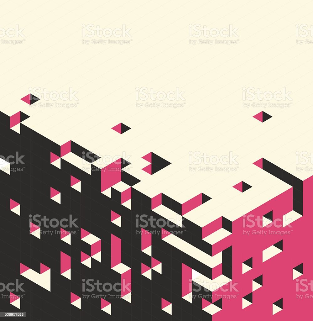 Isometric cubes background vector art illustration