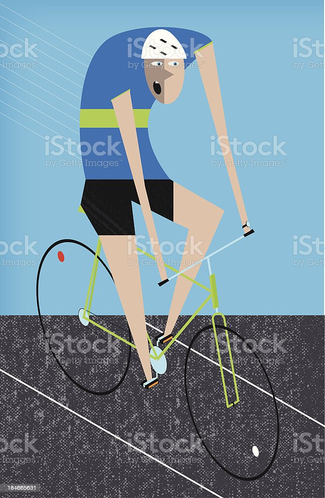 Isometric cyclist royalty-free stock vector art
