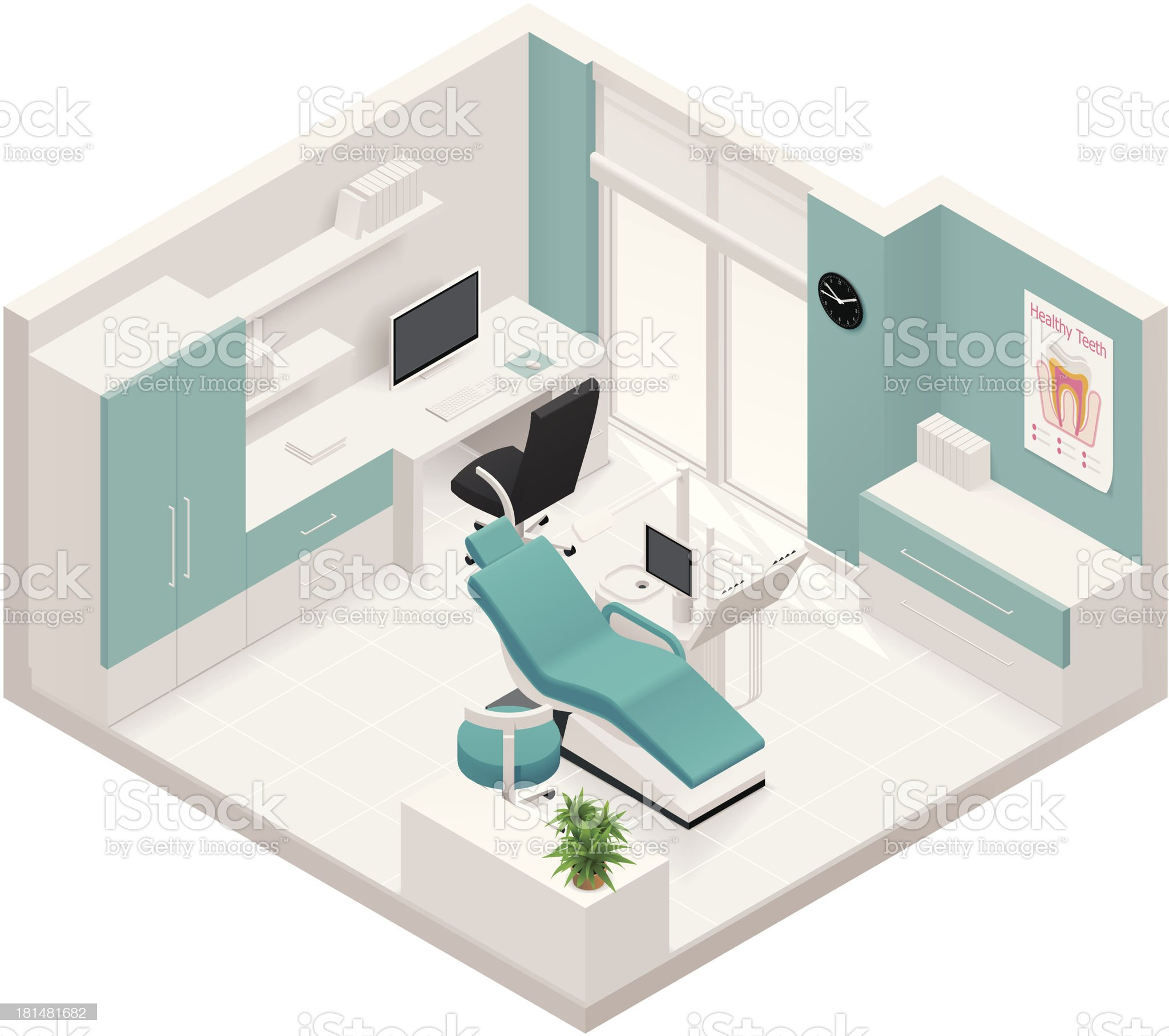 Isometric dental clinic icon royalty-free stock vector art