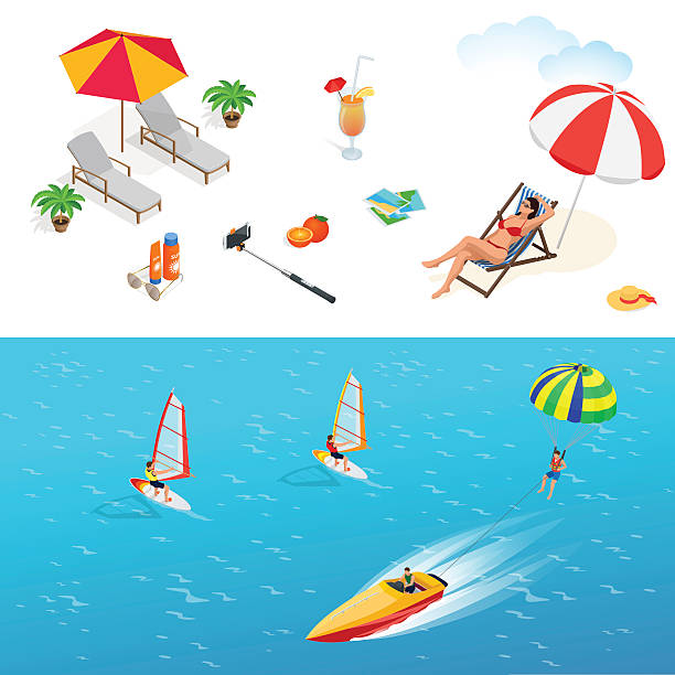 Parasailing Clip Art, Vector Images & Illustrations - iStock