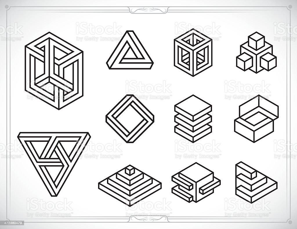 Isometric Designs - Illustration royalty-free stock vector art