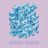 isometric digital pattern