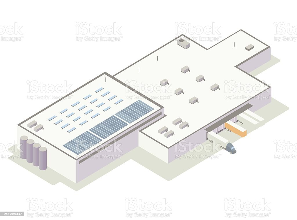 Isometric distribution center illustration vector art illustration