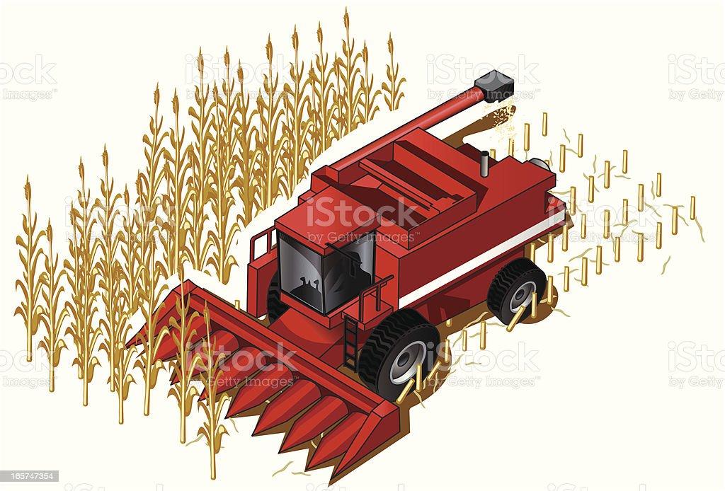 Isometric Farm Combine royalty-free stock vector art