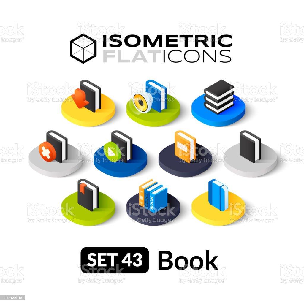 Isometric flat icons set 43 vector art illustration