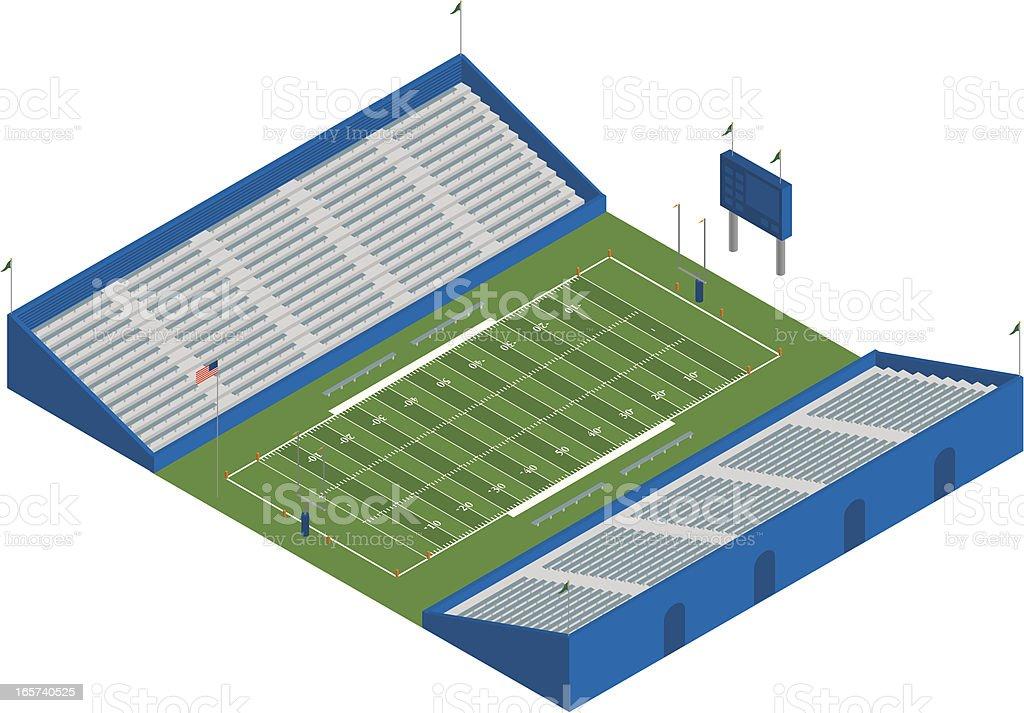 Isometric Football Stadium vector art illustration