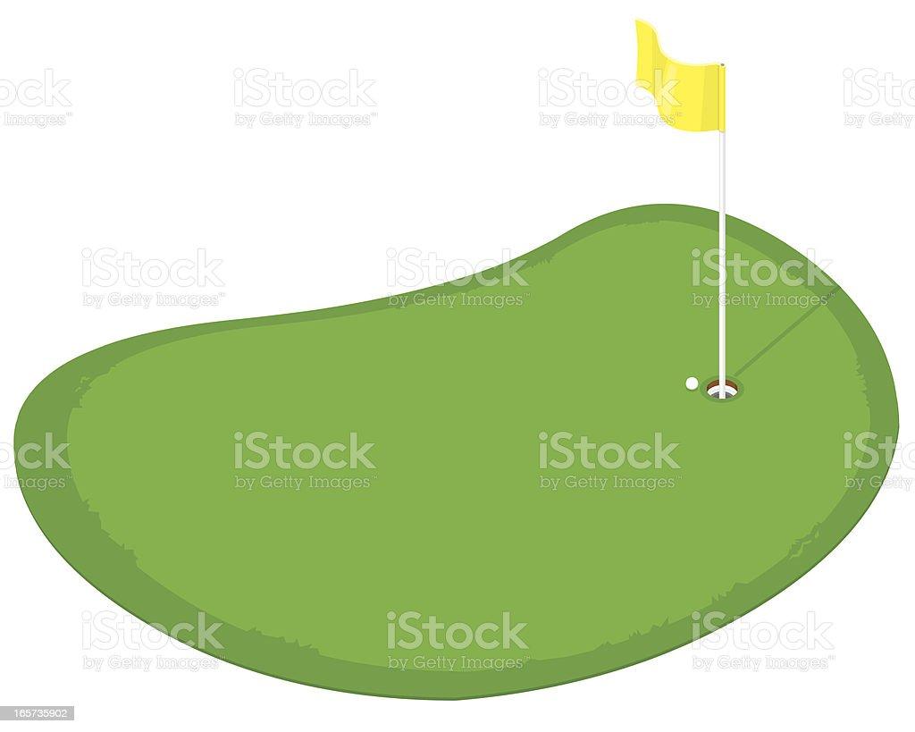 Isometric Golf Putting Green vector art illustration