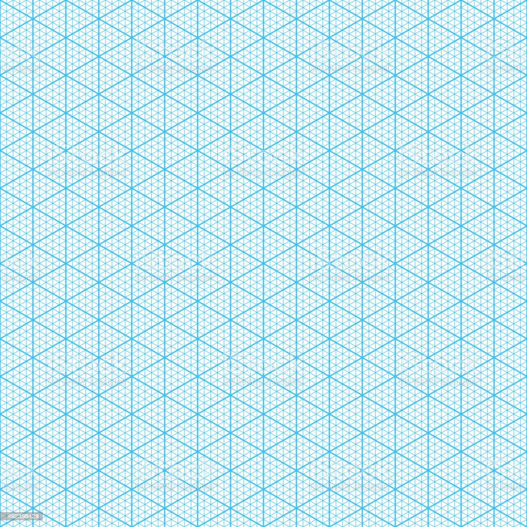 Isometric graph paper vector art illustration