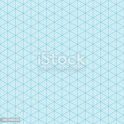 Isometric Graph Paper Stock Vector Art 492398429 | Istock