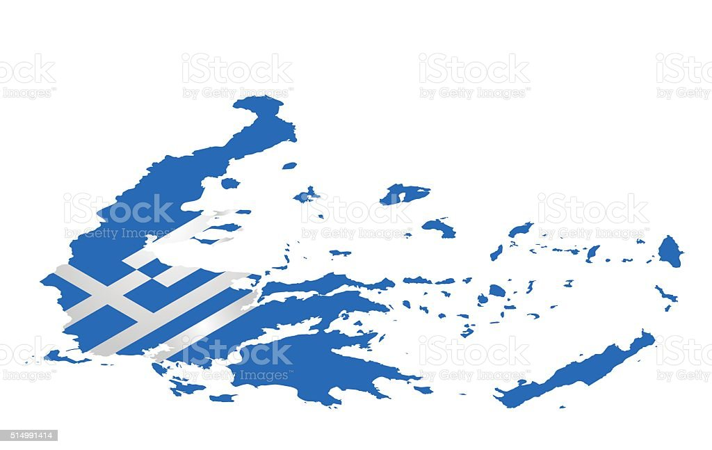 Isometric Greece Flag vector art illustration