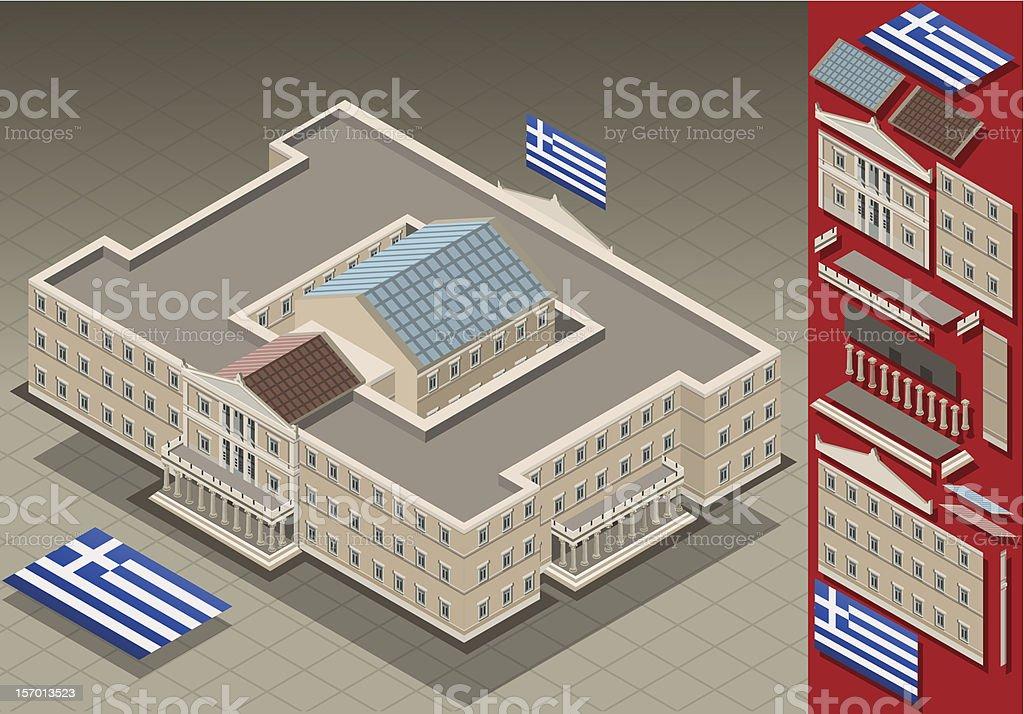 isometric Greek Parliament royalty-free stock vector art