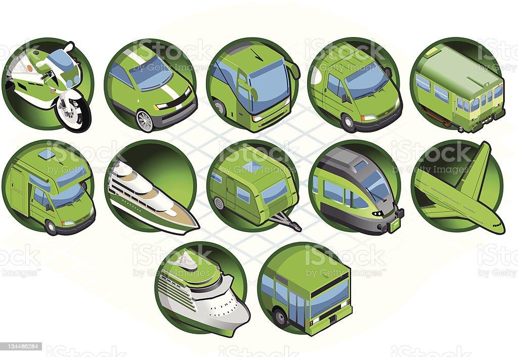 Isometric green icon royalty-free stock vector art