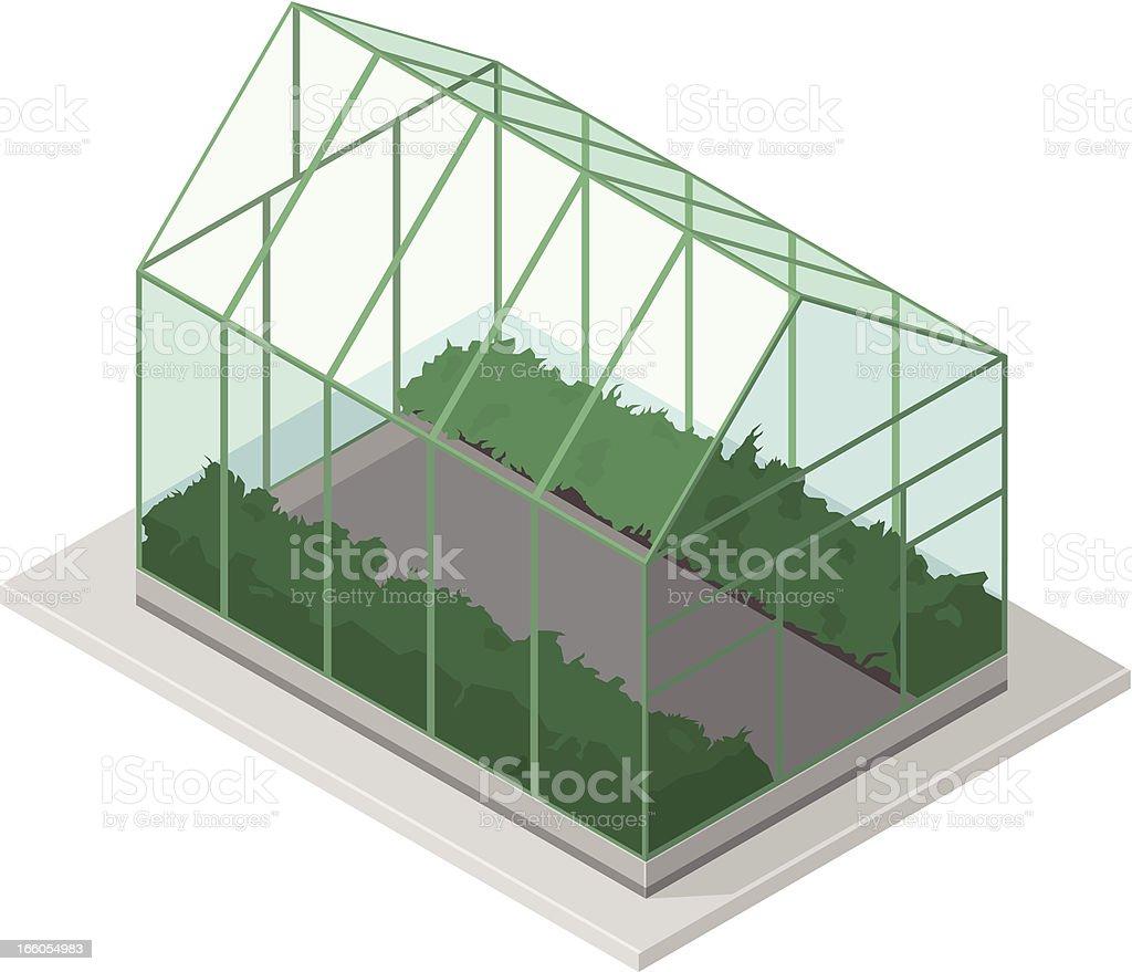 Isometric Greenhouse royalty-free stock vector art