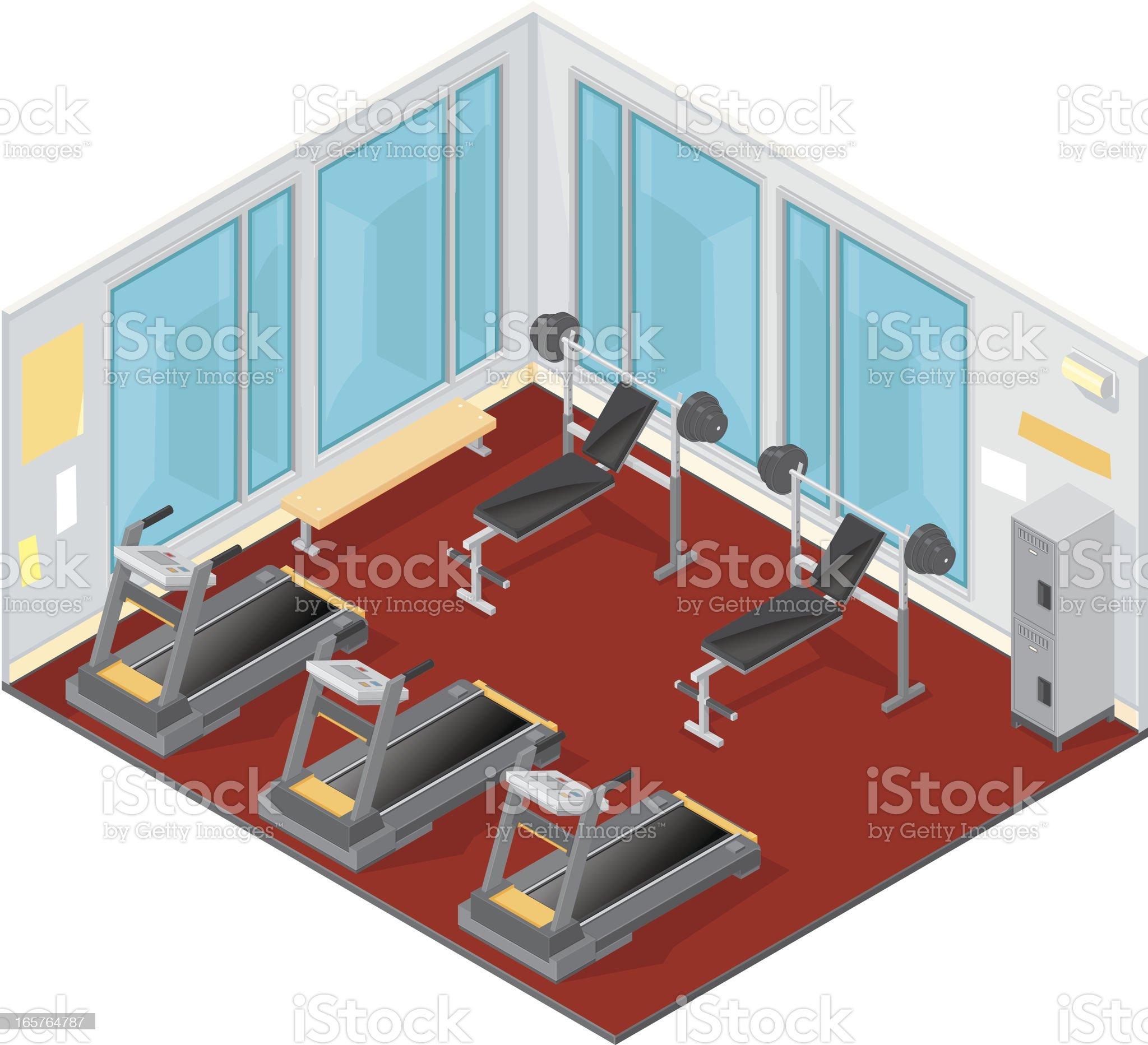 Isometric Gym. royalty-free stock vector art