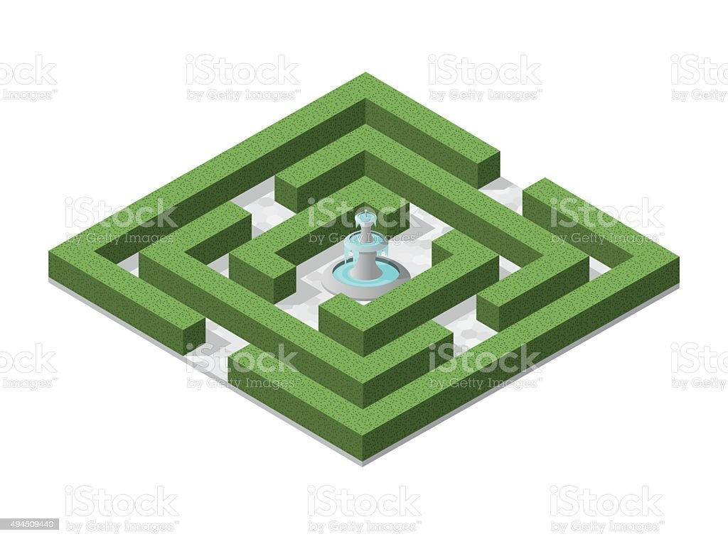 Isometric High Quality City Element with on White Background vector art illustration