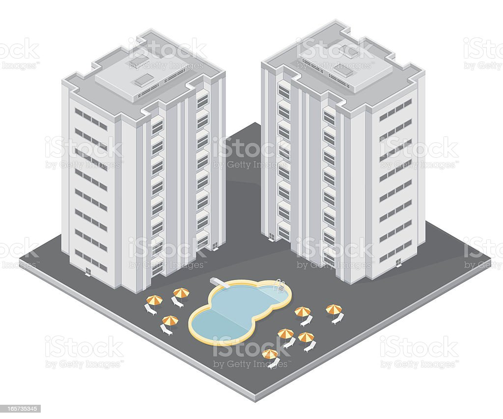 Isometric Holiday resort royalty-free stock vector art