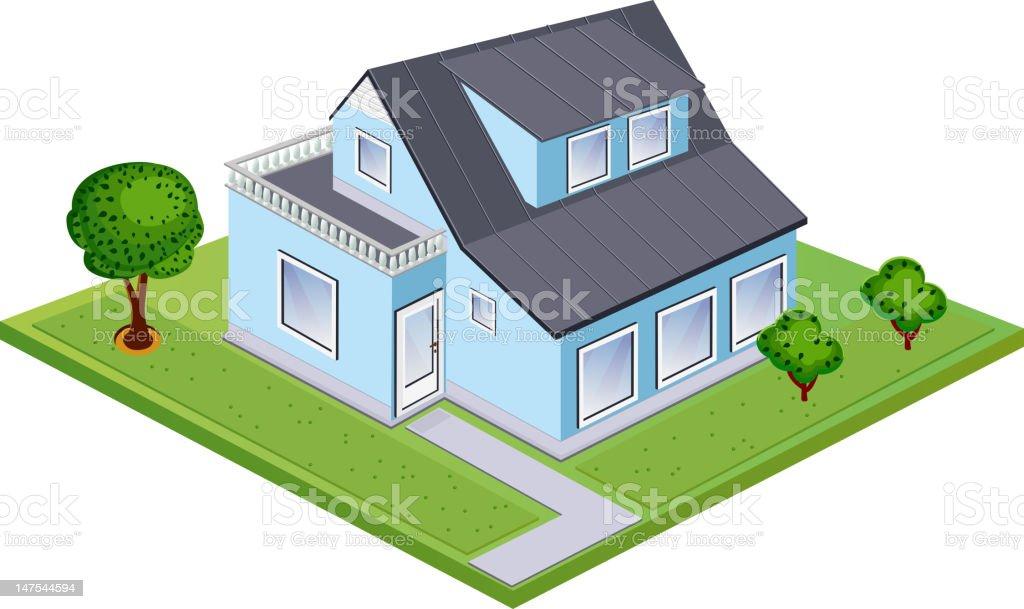 Isometric house stock photo