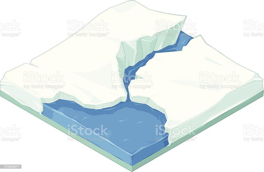 Isometric Iceberg Snowscape royalty-free stock vector art