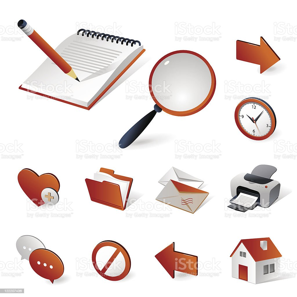 Isometric icons   Internet and web royalty-free stock vector art