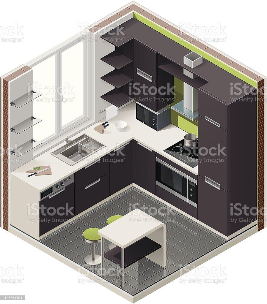 Isometric kitchen icon royalty-free stock vector art