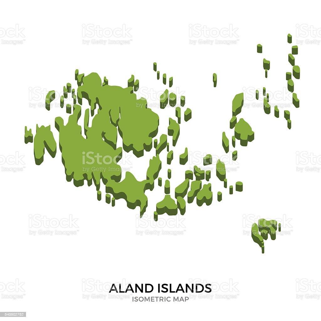 Isometric map of Aland Islands detailed vector illustration vector art illustration
