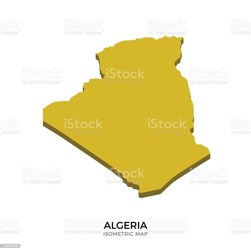 Isometric map of Algeria detailed vector illustration vector art illustration