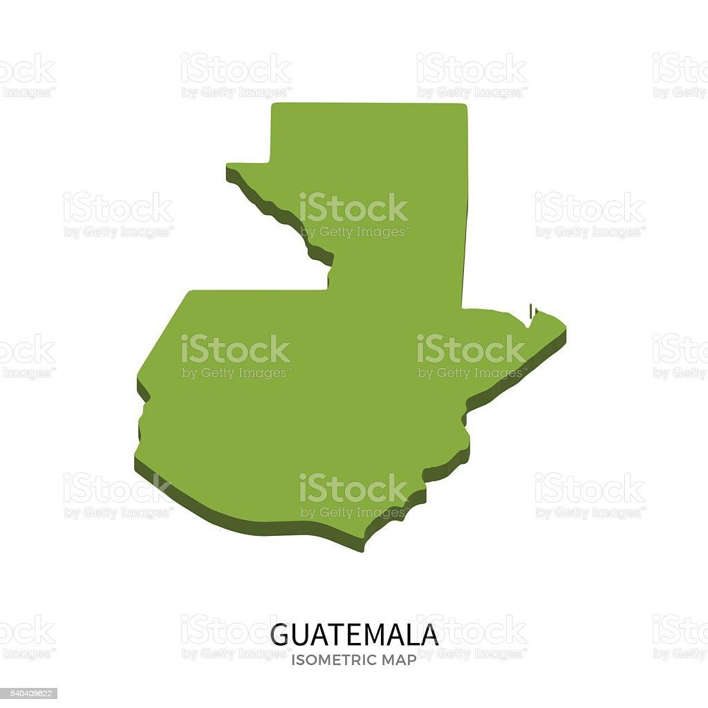 Isometric map of Guatemala detailed vector illustration vector art illustration