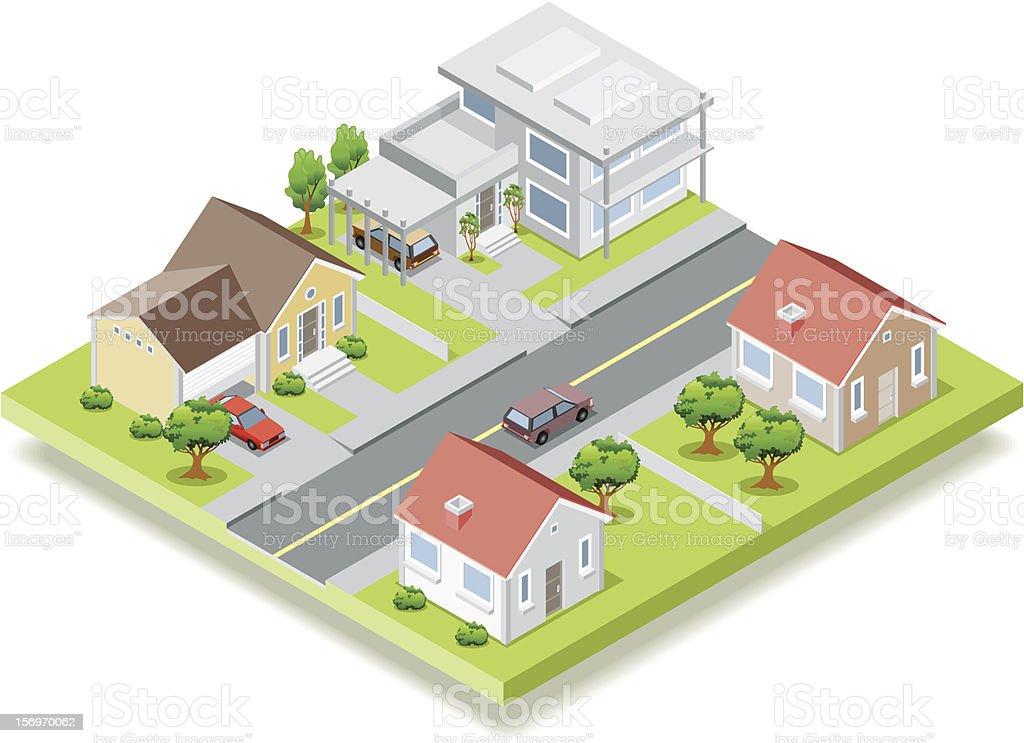 Isometric neighbor royalty-free stock vector art