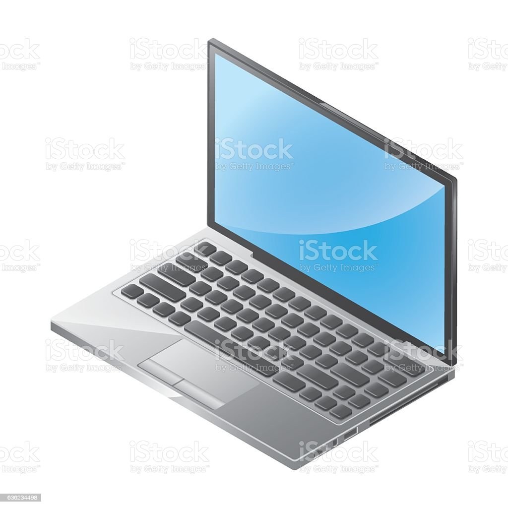 Isometric Notebook Illustration vector art illustration